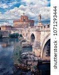 castle sant' angelo in rome | Shutterstock . vector #1071293444