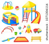 playground park cartoon vector... | Shutterstock .eps vector #1071306116