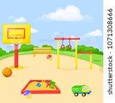 playground park cartoon vector...   Shutterstock .eps vector #1071308666