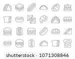 hamburger  hotdog  club... | Shutterstock .eps vector #1071308846