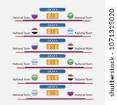 match schedule group a vector... | Shutterstock .eps vector #1071315020