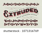 vector extruded classic old... | Shutterstock .eps vector #1071316769