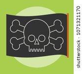 pirate vector flag. jolly roger....   Shutterstock .eps vector #1071321170
