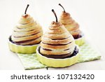 delicious pear in french pastry ... | Shutterstock . vector #107132420