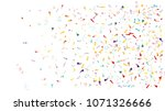 colored foil confetti falling... | Shutterstock .eps vector #1071326666