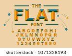 vector of modern bold font and... | Shutterstock .eps vector #1071328193