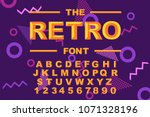 vector of modern bold font and... | Shutterstock .eps vector #1071328196