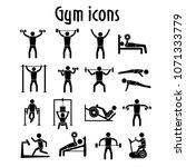 gym icons collection vector | Shutterstock .eps vector #1071333779