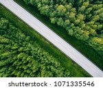 aerial view of green summer... | Shutterstock . vector #1071335546