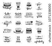 vector hand drawn lettering on...   Shutterstock .eps vector #1071338000