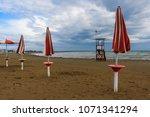 a beach of the adriatic sea in...   Shutterstock . vector #1071341294