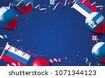12 june happy russia day... | Shutterstock .eps vector #1071344123