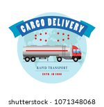 flat truck icon. delivery and... | Shutterstock . vector #1071348068
