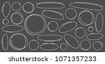 circle brush line set.... | Shutterstock .eps vector #1071357233