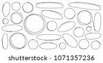 circle brush line set.... | Shutterstock .eps vector #1071357236