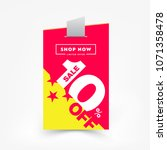 10  off sale label price tag.... | Shutterstock .eps vector #1071358478