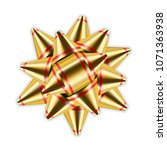 gold bow 3d ribbon decor... | Shutterstock .eps vector #1071363938