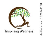 wellness logo design | Shutterstock .eps vector #1071364100