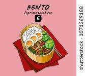 vector illustrations of bento...   Shutterstock .eps vector #1071369188