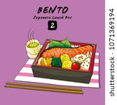 vector illustrations of bento...   Shutterstock .eps vector #1071369194