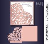 die laser cut wedding card... | Shutterstock .eps vector #1071370388