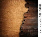 broken wood board | Shutterstock . vector #107138204