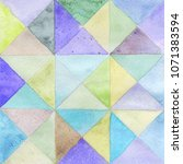 watercolors triangles and... | Shutterstock . vector #1071383594