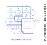 documents search. modern flat...   Shutterstock .eps vector #1071384569