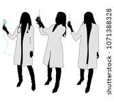 female doctor. silhouette | Shutterstock .eps vector #1071388328
