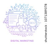 website promotion. modern flat... | Shutterstock .eps vector #1071389378