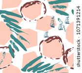 seamless pattern crackle... | Shutterstock .eps vector #1071391214