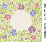 floral wreath   concept of a... | Shutterstock .eps vector #1071394430