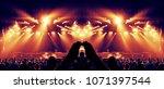concert crowd in a huge arena...   Shutterstock . vector #1071397544