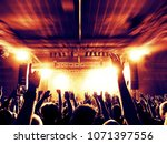 concert crowd in a huge arena... | Shutterstock . vector #1071397556