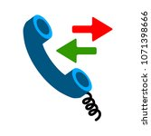 phone sign icon  call center ... | Shutterstock .eps vector #1071398666