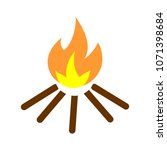 vector fire flames sign... | Shutterstock .eps vector #1071398684