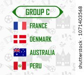 soccer cup 2018 team group c.... | Shutterstock .eps vector #1071403568