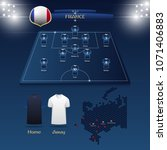 team france soccer jersey or... | Shutterstock .eps vector #1071406883