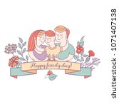 happy family. family day. ... | Shutterstock .eps vector #1071407138