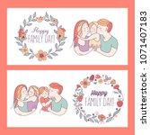 happy family. international... | Shutterstock .eps vector #1071407183