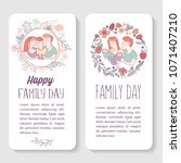 happy family. family day.... | Shutterstock .eps vector #1071407210