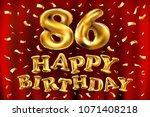 vector happy birthday 86th... | Shutterstock .eps vector #1071408218