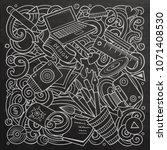 cartoon vector doodles art and... | Shutterstock .eps vector #1071408530