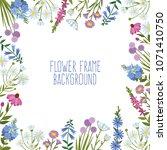 frame of wild flowers....   Shutterstock .eps vector #1071410750