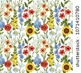 vector seamless floral pattern. ... | Shutterstock .eps vector #1071410780