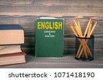english language and culture... | Shutterstock . vector #1071418190