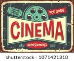 cinema retro decorative sign... | Shutterstock .eps vector #1071421310