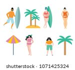set of different people on the... | Shutterstock .eps vector #1071425324