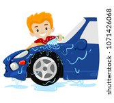 vector illustration of a boy... | Shutterstock .eps vector #1071426068