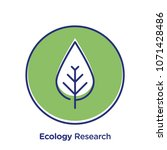 ecology related offset style... | Shutterstock .eps vector #1071428486